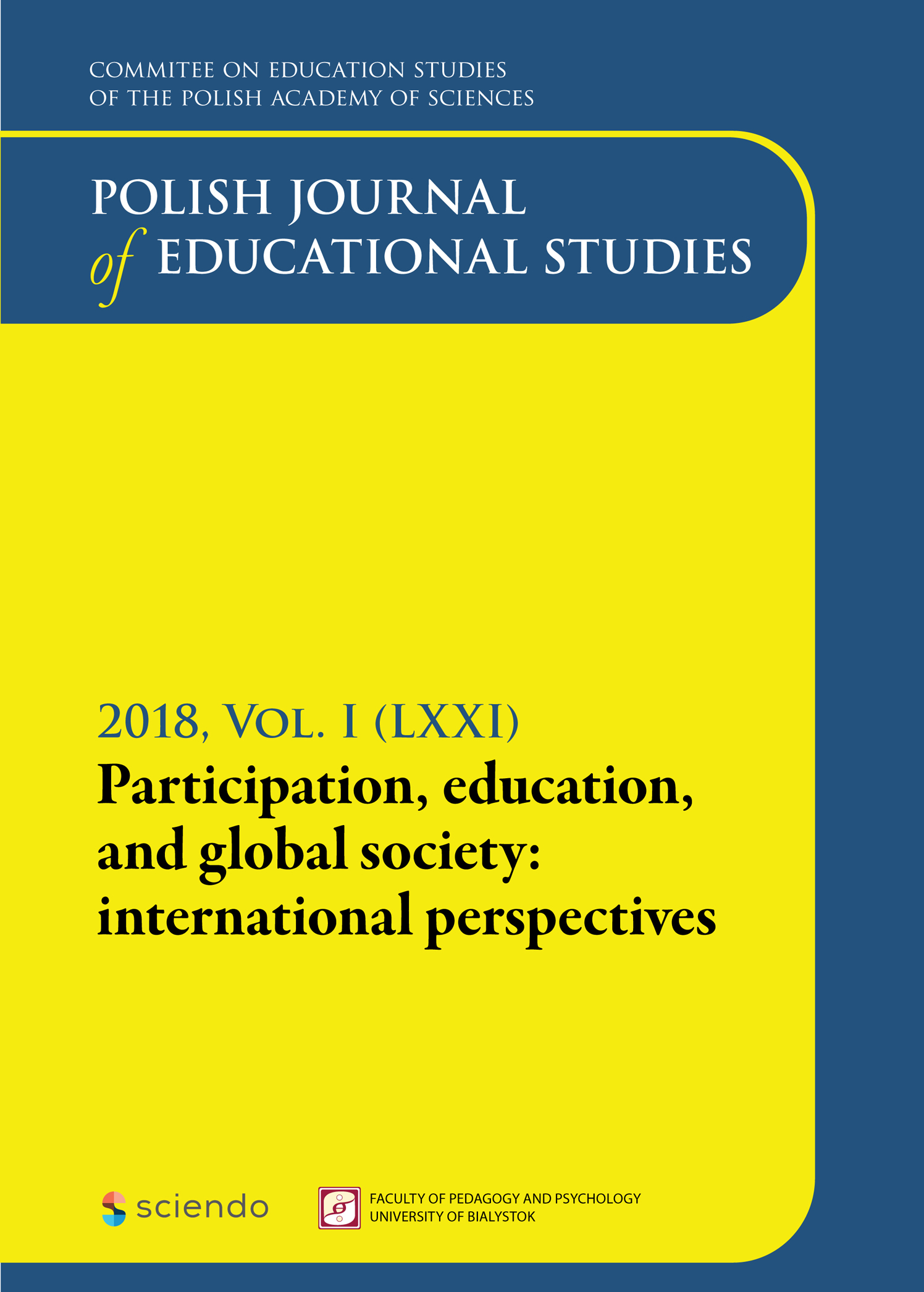 Polish Journal of Educational Studies
